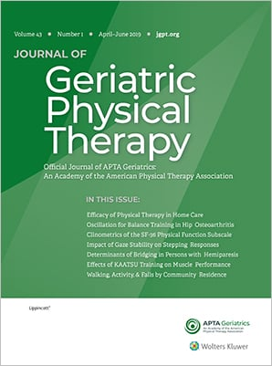 Journal of Geriatric Physical Therapy