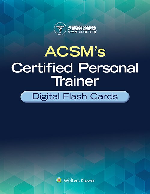 Screenshot of ACSM's Certified Personal Trainer Digital Flash Cards book cover