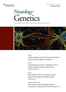Neurology Genetics journal cover
