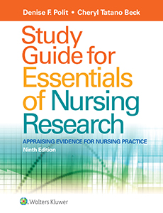 Study Guide for Essentials of Nursing Research book cover